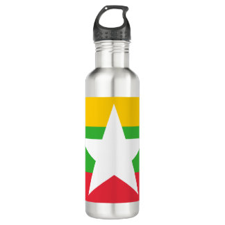 Garrafa De Aço Inoxidável Bandeira de Myanmar