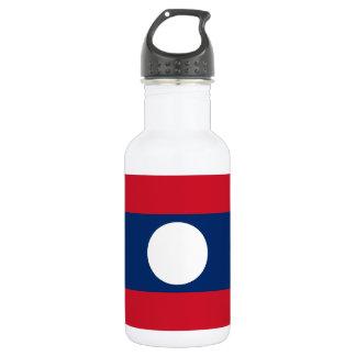 Garrafa De Aço Inoxidável Bandeira nacional do mundo de Laos