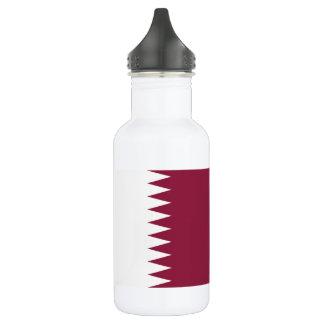 Garrafa De Aço Inoxidável Bandeira nacional do mundo de Qatar