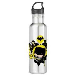 Garrafa De Aço Inoxidável Chibi Batman que escala a cidade