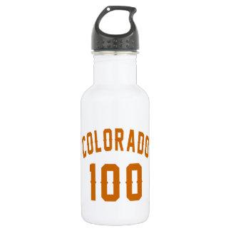 Garrafa De Aço Inoxidável Colorado 100 designs do aniversário