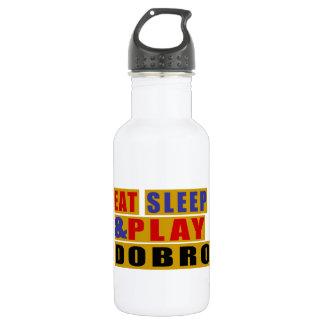 Garrafa De Aço Inoxidável Coma o DOBRO do sono e do jogo
