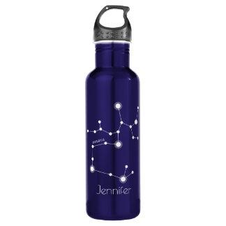 Garrafa De Aço Inoxidável Constelação personalizada do zodíaco do Sagitário