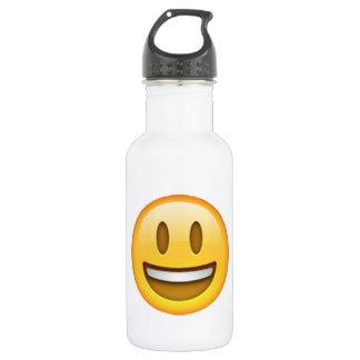 Garrafa De Aço Inoxidável Emoji - olhos abertos do sorriso