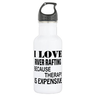 Garrafa De Aço Inoxidável Eu amo transportar de rio porque a terapia é cara