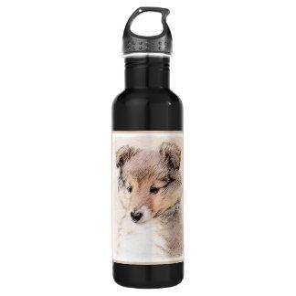 Garrafa De Aço Inoxidável Filhote de cachorro do Sheepdog de Shetland
