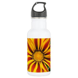 Garrafa De Aço Inoxidável Foto alaranjada bonita da flor de Sun