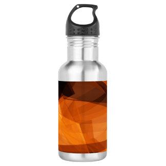 Garrafa De Aço Inoxidável Fundo abstrato da laranja para o design como o