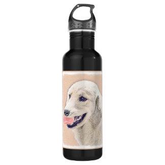 Garrafa De Aço Inoxidável Golden retriever com arte do cão da pintura da
