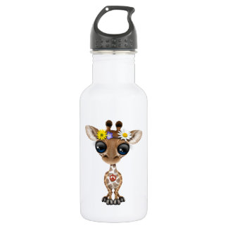 Garrafa De Aço Inoxidável Hippie bonito do girafa do bebê