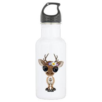 Garrafa De Aço Inoxidável Hippie bonito dos cervos do bebê