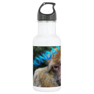 Garrafa De Aço Inoxidável Macaco triste sobre segunda-feira