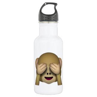 Garrafa De Aço Inoxidável Não veja nenhum macaco mau - Emoji