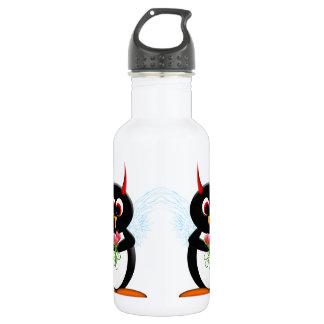 Garrafa De Aço Inoxidável Pinguim mau bonito