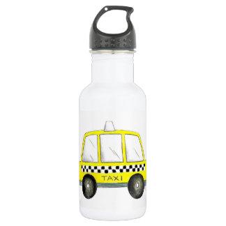 Garrafa De Aço Inoxidável Presente Checkered do táxi da Nova Iorque amarela