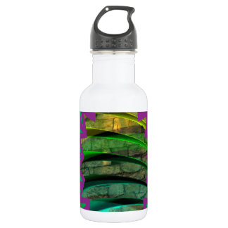 Garrafa De Aço Inoxidável Presente colorido feliz do design gráfico da