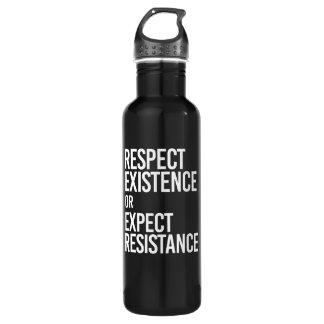 Garrafa De Aço Inoxidável Respeite a existência ou espere a resistência -- -