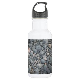 Garrafa De Aço Inoxidável Rochas dos seixos da praia das pedras
