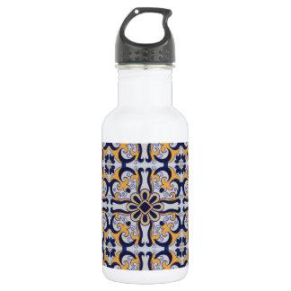 Garrafa De Aço Inoxidável Teste padrão do azulejo do português