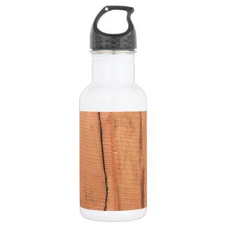 Garrafa De Aço Inoxidável Textura de madeira