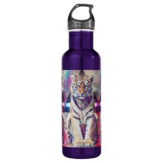 Garrafa De Aço Inoxidável Tigre do hipster - arte do tigre - tigre do