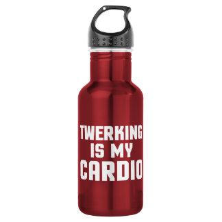 Garrafa De Aço Inoxidável Twerking é minhas cardio- citações engraçadas do