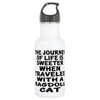 Garrafa De Aço Inoxidável Viajado com gato de Ragdoll