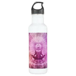 Garrafa De Aço Inoxidável Zen espiritual da meditação da ioga colorido