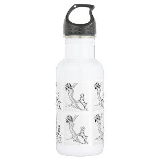 garrafa de água a perseguição do cão & do gato