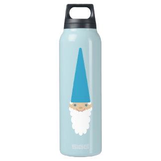 Garrafa de água azul bonito personalizada do gnomo
