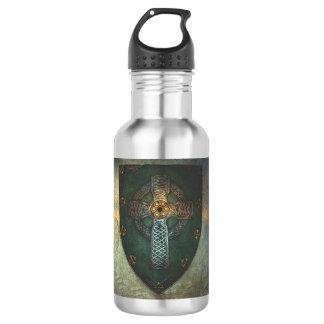 Garrafa de água celta da cruz do protetor