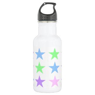 Garrafa de água colorida das estrelas