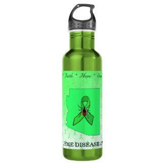 Garrafa de água da consciência da doença de Lyme