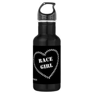Garrafa de água da menina da raça