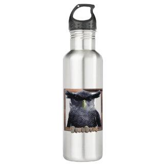 Garrafa de água de aço inoxidável da coruja