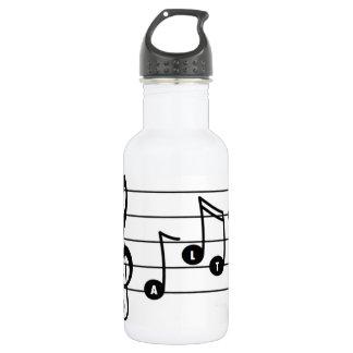Garrafa de água do cantor do alto