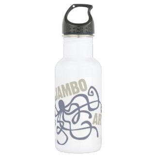 Garrafa de água do polvo das artes de Jambo