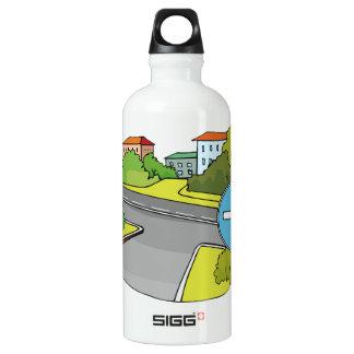 Garrafa de água dos sentidos de condução