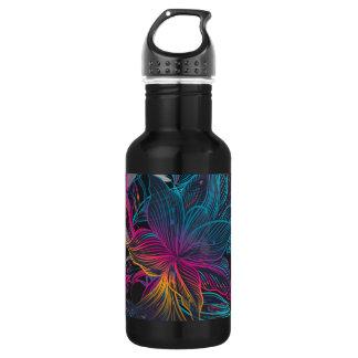 Garrafa de água elegante do design floral da
