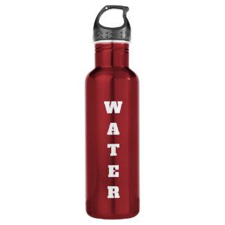 Garrafa de água etiquetada