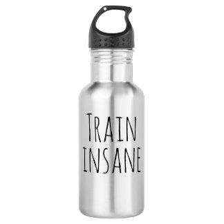 Garrafa de água insana do trem