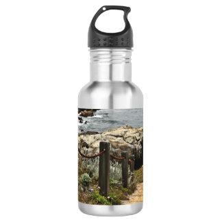 Garrafa de água litoral das etapas
