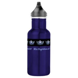 Garrafa de água Prata-Azul de Pexagon da coroa da