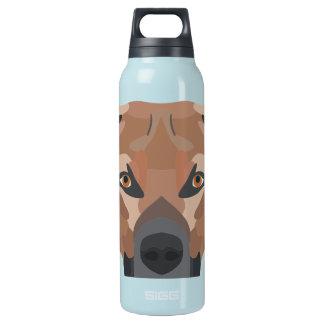 Garrafa De Água Térmica Cão Brown Labrador da ilustração