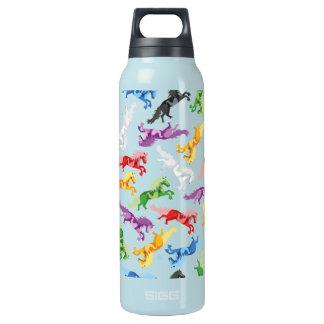 Garrafa De Água Térmica Cavalos de salto coloridos do teste padrão