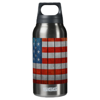 Garrafa De Água Térmica Cerca pintada da bandeira americana