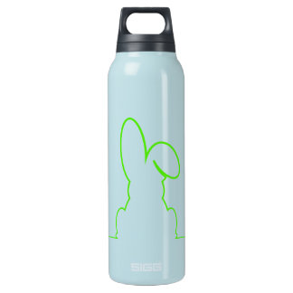 Garrafa De Água Térmica Contorno de uma luz da lebre - verde