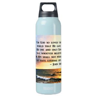 GARRAFA DE ÁGUA TÉRMICA DESIGN DE INSPIRAÇÃO DA FOTO DO OCEANO DO 3:16 DE