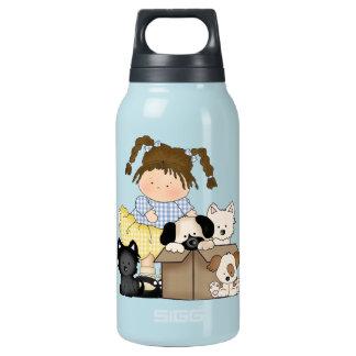 Garrafa De Água Térmica Filhotes de cachorro do amor