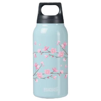 Garrafa De Água Térmica Flor de cerejeira - transparente